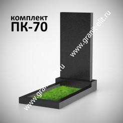 Памятник на могилу прямой, стела 1000*500*70, Карелия