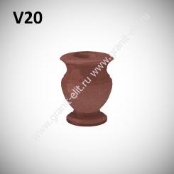 Ваза гранитная V20, красная