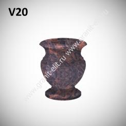 Ваза гранитная V20, коричневая